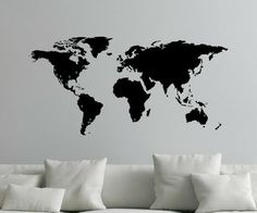 7 x 4 ft world map decal large world map vinyl wall sticker find this pin and more on home sweet home by pauline8170 see more this detailed large world map publicscrutiny Images