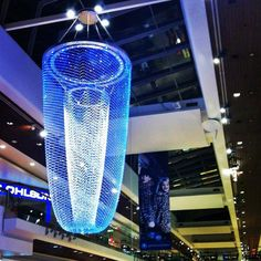 Blue Christmas Lights, Gallerian, Stockholm