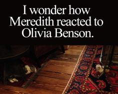 meredith and Olivia, this could be war!!!!