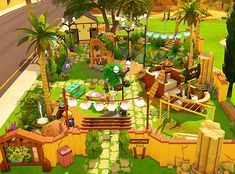 """mayuonline: """" """"Oasis of the Past - NO CC """" Today I decided to share this little park I built for my sims, I like to think that it used to be a well known oasis in the middle of the desert centuries..."""