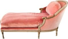 French-Style Pink Chaise - One Kings Lane - Vintage  Market Finds - Furniture