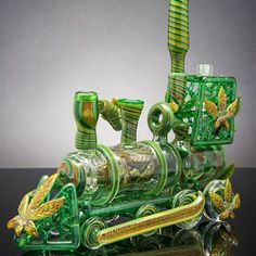 Kush Train made with Stoney love with @mrgrayglass Stellar photography by Alex Reyna. by bluegrassglass http://ift.tt/1pLlqRD