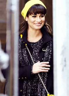 Lea Michele on set | Glee season 5 @ NYC