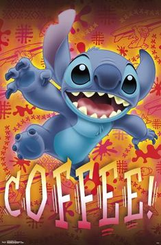 Lilo and Stitch - Coffee Poster and Clip Bundle, Brown Cartoon Wallpaper Iphone, Disney Phone Wallpaper, Cute Cartoon Wallpapers, Phone Wallpapers, Lilo And Stitch Memes, Lelo And Stitch, Disney Stich, Stitch Tattoo, Stitch Drawing