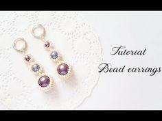 #МК - Серьги из бисера и бусин | #Tutorial - Earrings from beads - YouTube