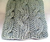 Double-Dealing Scarf Reversible cabled scarf Knitting pattern by Theresa Schabes Available for sale on Ravelry