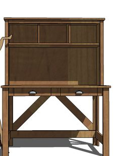 Hutch Plans To Go With A Desk