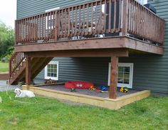 Kid S Slide From A Second Story Deck Easy To Install And