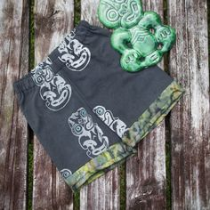 Unisex Upcycled Childrens Kiwiana Shorts New by WhatTheFrockNZ