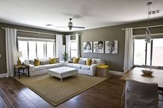 Simple and kid friendly living room space