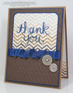 Quick Masculine Watercolor Thank You – Stampin' Up!