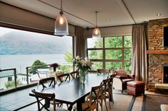 Gorgeous large dining area at The Residence in Queenstown New Zealand! New Zealand Hotels, Queenstown New Zealand, Luxury Accommodation, Hotel Suites, Luxury Holidays, Winter House, Vacation Trips, Dining Area, Dining Room