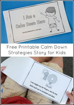 Free printable number themed calm down strategies story for kids