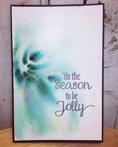 2016 XmasCard No.1 水彩用紙にパウダー状のインクを散らして水スプレーでにじませたもの模様の出方は全て偶然なのでおぉってのが出来たときが楽しい 全体的に#perfectpearlを水で溶いたものを吹きかけてキラキラにしてますタイトルは#papertreyink のもの _ クリスマスまでに作ったカード全部アップ出来ないかも(笑) _ _ #christmascard #cardmaking #クリスマスカード #カード #スタンプ #stampart