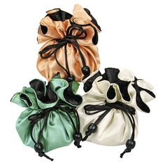 Nile Corp. Reversible Satin Cinch Pouch, 10 Jewelry Pouches, Chinese Style, Jewelry Shop, Satin, Jewlery, Jewellery, Elastic Satin, Silk Satin