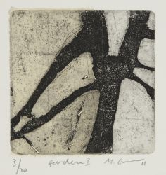 "Mark Graver_""Garden,""_etching with chine colle"