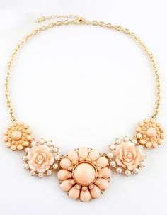 Shop Pink Gemstone Gold Flower Necklace online. SheIn offers Pink Gemstone Gold Flower Necklace & more to fit your fashionable needs.