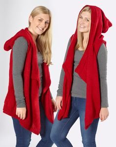 'Moda Vera' Stallion Hooded Vest FREE knitting pattern     Spotlight.com.au