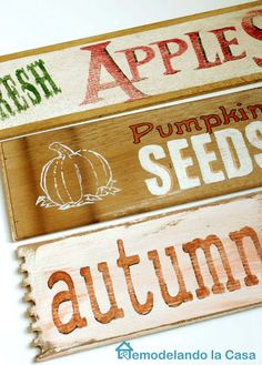 DIY - Fall Signs - Free Graphics
