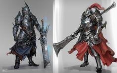 ArtStation - Knight Armor sketch, jeremy chong