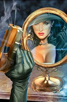 Risultati immagini per madame mirage Fantasy Art Women, Beautiful Fantasy Art, Dark Fantasy Art, Female Character Design, Character Art, Comic Art Community, Comics Girls, Pulp Art, Image Hd