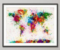 Image via We Heart It https://weheartit.com/entry/67497433/via/9177910 #art #artwork #colors #creative #map #splash