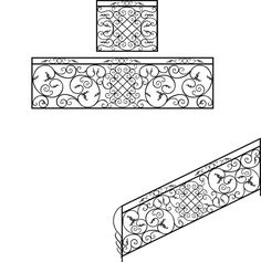 Wrought Iron Stair Railing Design CDR File