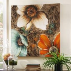 I just purchased this painting.... this pic does not do it justice .. it is just GORGEOUS. My entire room was created to match this canvas picture , it's large, bright and has a beautiful copper gloss to it