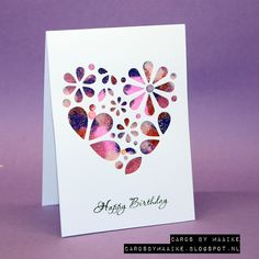 #SSS #SSSFAVE Simon Says Stamp flower heart die and it's your birthday stampset