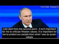 Putin: the West has no morals - Many Russians hold Western values in contempt, and resist being subjugated to them. Deserved or not, the West is often perceived as a faithless and individualistic society with an exceptional love of money.