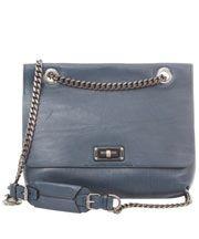 Blue Happy Medium Leather Shoulder Bag
