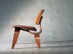 Long chair wood Eames (50's)