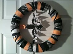 New Orleans Saints Grosgrain Ribbon Wreath (without the flags in the middle)