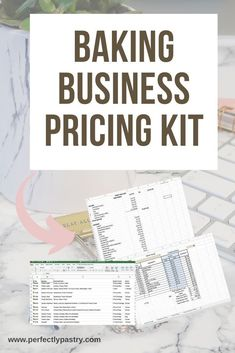 Check out this tool kit for your baking business. This toolkit helps you with your pricing. Get a pricing guide that includes the top common items from GFS. Get a recipe pricing calculator, and a recipe conversion calculator to help you master pricing in your baking business. #perfectlypastry #bakingbusiness #pricingbakedgoods #pricing Home Bakery Business, Baking Business, Cake Business, Baking Secrets, Baking Tips, Bread Baking, Recipe Conversions, Conversion Calculator, Online Bakery