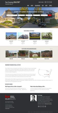 """Georgia - View REALTOR Dan Gronning's  responsive real estate website built on our semi custom design called """"San Francisco."""" http://www.gronningproperties.com/. Learn about our real estate Wordpress themes at www.IDXCentral.com #realtors #realestate #realestatewebsite #realestatemarketing"""