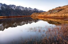 small lake at deer park heights in Queenstown NZ
