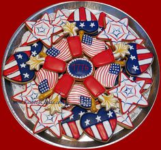 Fourth of July cookie 4th