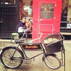 Shopfront Bench and bike
