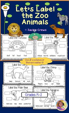 Feedback is beautiful! This product is great for a follow-up to a zoo trip or as a writing center during your literacy block. Each of the 22 pages of zoo animals has four animal body parts for students to label. Students become familiar with labeled diagrams and get writing practice as well as becoming familiar with different animals.