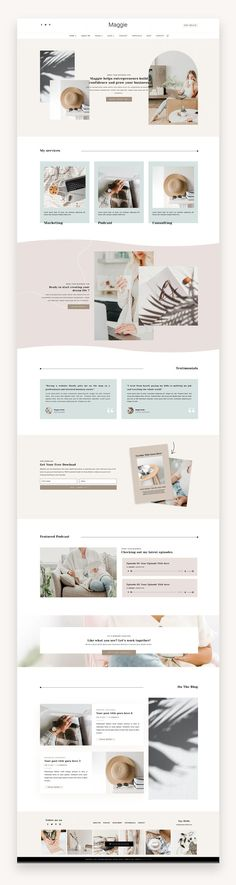 Maggie is an elegant and modern WordPress theme made for promoting your business and services online. This theme is built for female entrepreneurs, coaches, virtual assistants, copywriters, podcasters and bold business owners ready to do things differently.