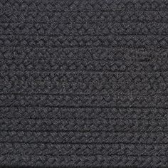 Colonial Braided Rug Co - Solid Charcoal Gray Braided Rug, $59.70 (http://www.colonialrug.com/solid-charcoal-gray-braided-rug/)
