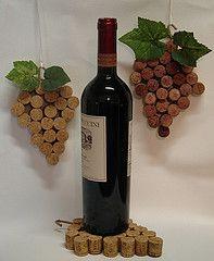 grape cluster wine cork decor DIY