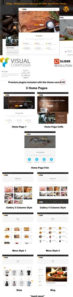 Download Ritag – Multipurpose restaurant & coffee WordPress Theme (Restaurants & Cafes)