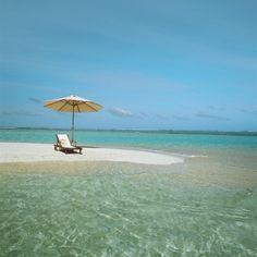 Umbrella and Beach Chair on the Beach...
