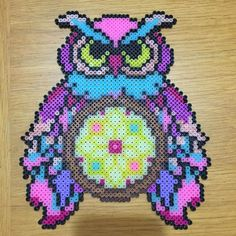 Owl dreamcatcher perler beads by sailorswife78