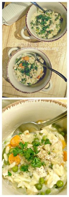 Chicken and Orzo Stew - the perfect comfort food to warm you up on a cold evening. The leftovers are just as good! | cupcakesandkalechips.com