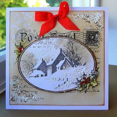 Kath's Blog......diary of the everyday life of a crafter: September 2012  Stampendous Snowy Post Card