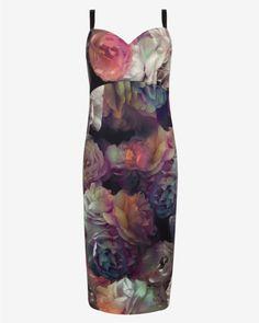 Technicolour Bloom strappy dress - Black | Dresses | Ted Baker