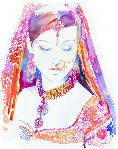 Artist/illustrator Cate Parr watercolours...