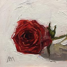 """Daily Paintworks - """"Red Rose 2"""" - Original Fine Art for Sale - © Austin Maloney"""